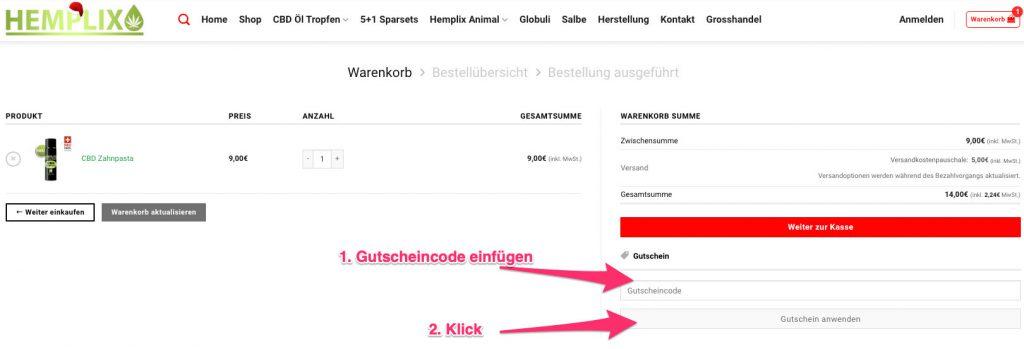 Hemplix gutscheincode tutorial