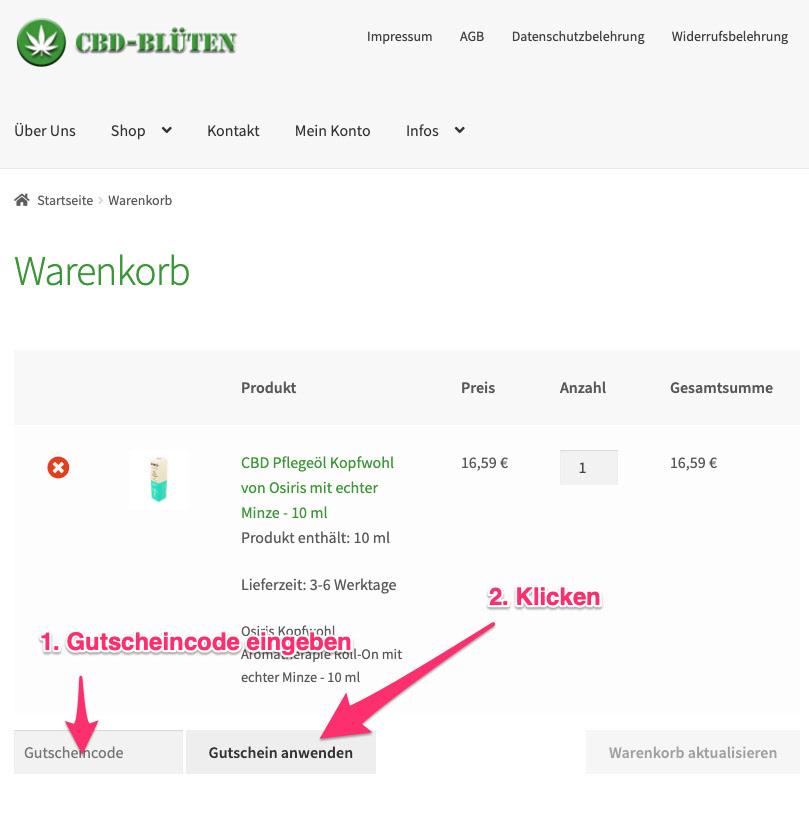 cbd-blüten.de gutscheincode tutorial